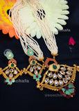 KUNDAN WITH FLOWER NECKLACE