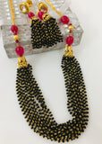 MULTI LAYER BLACK BEADS MANGALSUTRA