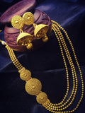 PLEASING GOLDEN BEADES LAYERED NECKLACE