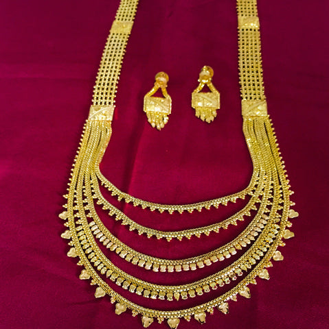 MULTI LAYER 1GRAM GOLD PLATED NECKLACE