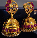 JALI WITH KEMP JHUMKA