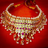Buy Marvelous Moti Necklace Online - White Pink Stone Tanmani | Sonchafa