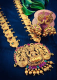 TEMPLE LAXMI WITH PEACOCK DESIGNER NECKLACE