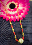 POVLA WITH GOLDEN BEADS MALA