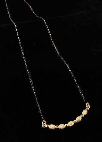 SIMPLE ROSE GOLD MANGALSUTRA