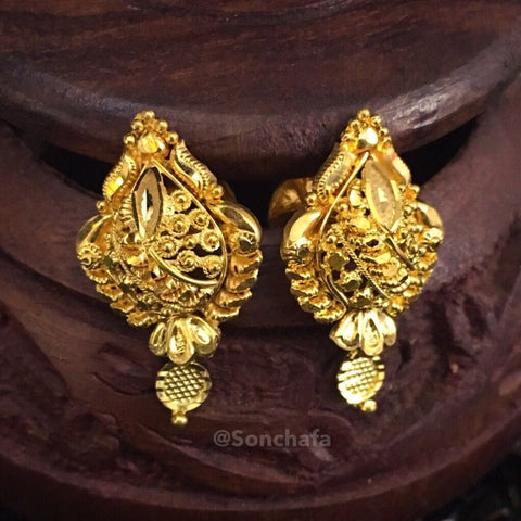 LEAF GOLD PLATED EARRINGS