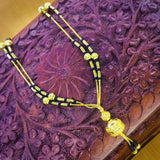 GOLDEN BEADS WITH CHAIN MANGALSUTRA