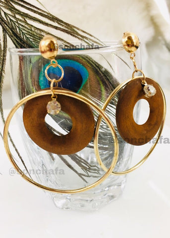 BROWN COLOUR KOREAN EARRINGS