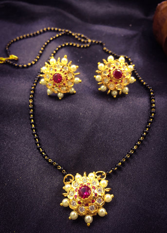 FLORAL PEARL MANGALSUTRA