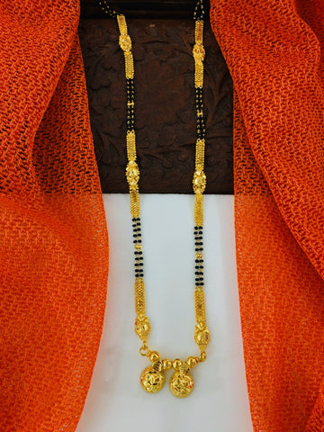 SIMPLE GOLD PLATED MANGALSUTRA