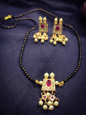 SQUARE PEARL MANGALSUTRA