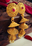 TRIPLE LAYER JHUMKI EARRINGS