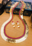 LAXMI COIN WITH PINK STONE NECKLACE