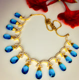 MULTI COLOUR STONE DIA NECKLACE