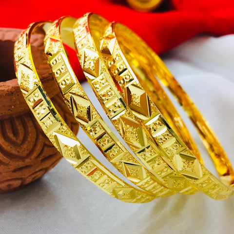 DAIMANTAL GOLD PLATED BANGLES