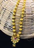 LONG GOLDEN BEADS NECKLACE