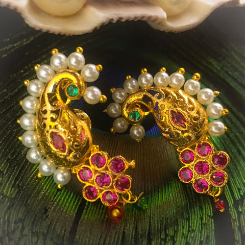 STUNNING PEACOCK EARRINGS