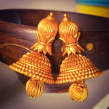 TEMPLE BELL INSPIRED JHUMKI