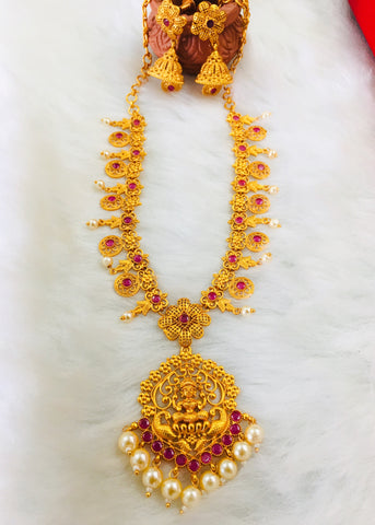 LAXMI PENDANT TEMPLE NECKLACE