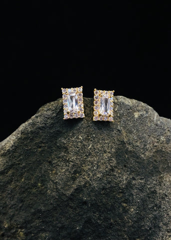 RECTANGLE SOLITAIRE STUDS
