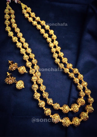 STUNNING GOLDEN BEADS NECKLACE