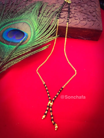 CHAIN WITH BLACK BEADS MANGALSUTRA