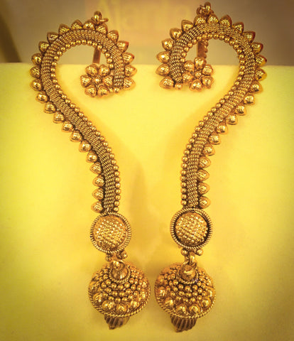 GOLDEN BEADS EAR CUFFS