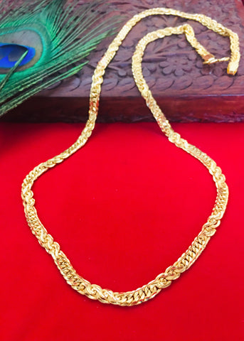 LONG GOLD PLATED CHAIN