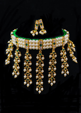 GREEN PUNERI CHINCHPETI  NECKLACE