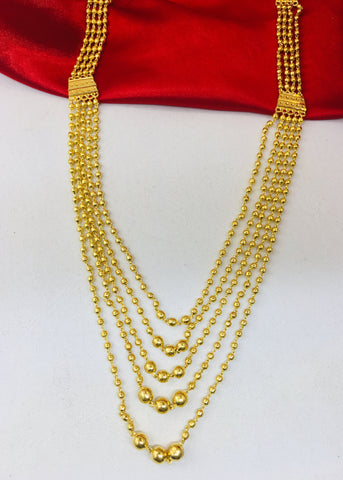 MULTI LAYER GOLDEN BEADS NECKLACE