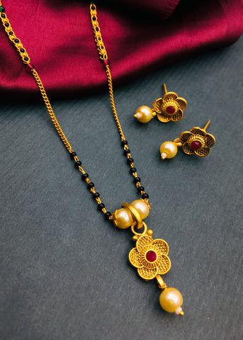 VERY CLASSY FLORAL DESIGNER MANGALSUTRA