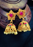 MULTI COLOUR MATTE JHUMKI