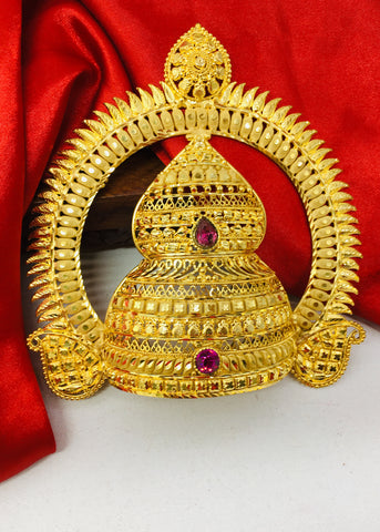 GOLD FINISH GANPATI MUKUT