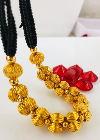 MALHAR GOLDEN BEADS MANGALSUTRA