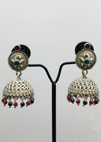 ADORABLE OXIDISED JHUMKI