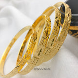 GOLD PLATED SIMPLE BANGLES