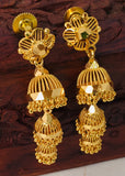 STUNNING GOLD JHUMKI EARRINGS