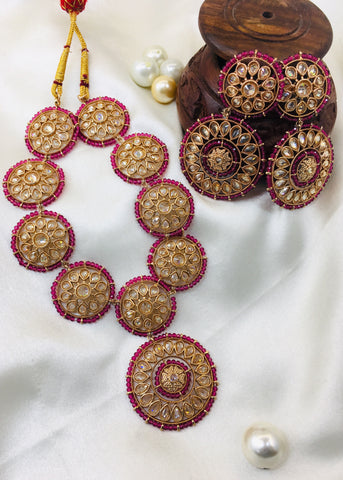 CIRCULAR PARTY WARE DIA NECKLACE