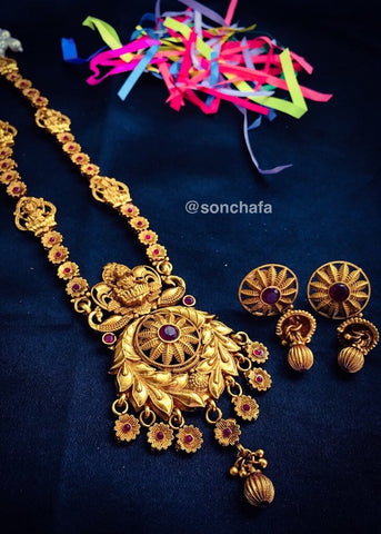 FLORET WITH DESIGNER PENDANT NECKLACE