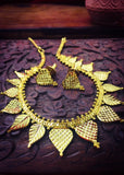 LEAF GOLD PLATED NECKLACE