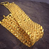 BROAD DESIGNER GOLD PLATED BRACELET