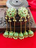 GOLD FINISH JHUMKI EARRINGS
