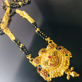 PEACOCK DESIGN WITH MINA WORK MANGALSUTRA