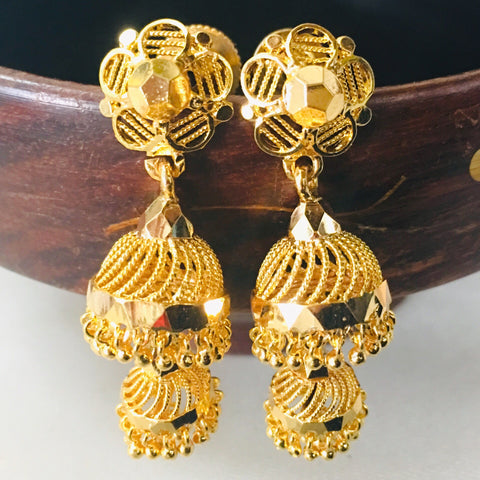 2 LAYER GOLD PLATED JHUMKI