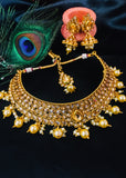FLORAL DESIGN DULHAN NECKLACE