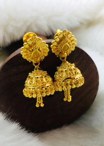 1 GRAM GOLD PLATED JHUMKI