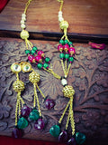 PINK - GREEN CRYSTAL NECKLACE