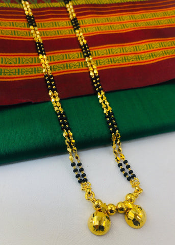 KANTHI MANGALSUTRA WITH FREE SEMI PAITHANI SAREE