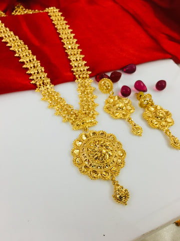 FLORET PENDANT GOLD PLATED NECKLACE