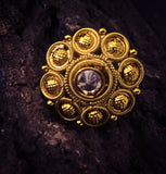 GOLDEN BEADS ANTIQUE RING